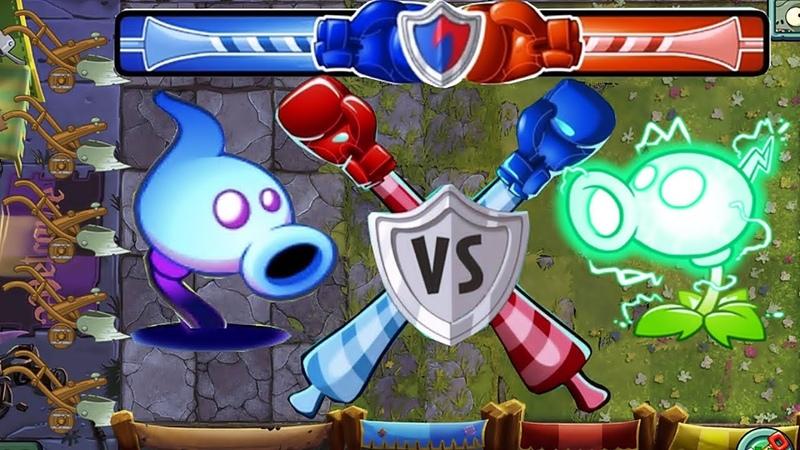 Plants vs Zombies 2 BattleZ: Shadow Peashooter Pvz 2 Vs Electric Peashooter Pvz 2