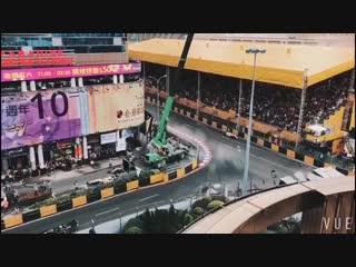 Авария Софии Флёрш на Гран-При Макао 2018