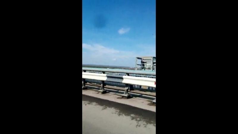 Поездка по мосту в перьми над камой.mp4