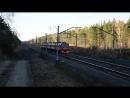 Электропоезд ЭД9Э 0057 и ВЛ80С 014 с тифоном Т9