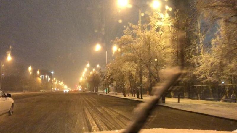 А в Астане зима во всю 😆👍🏻только у нас такое может быть