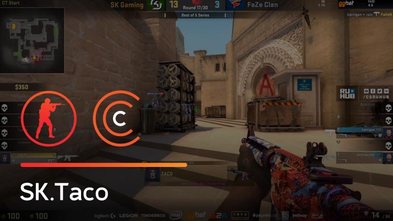 Taco выигрывает клатч за 10 секунд до конца раунда