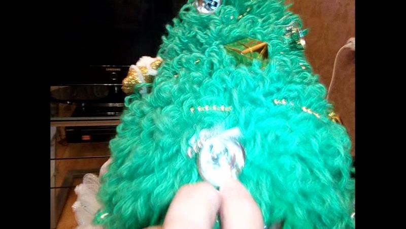 вот такой приготовили новогодний костюмчик клочки !! самая красавица ёлочка !! самая любимая !!