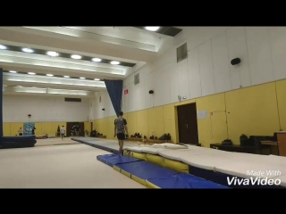 Tumbling in Acro School