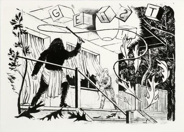 Тило Баумгратель / Tilo Baumgärtel (1972, Дрезден, Германия). Графика.