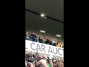 Griffiths ties Celtic scarf at ibrox