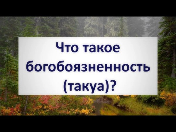 Что такое богобоязненность (такуа)?    Абу Яхья Крымский