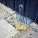 Внештатный иллюстратор и уличный художник David Zinn…