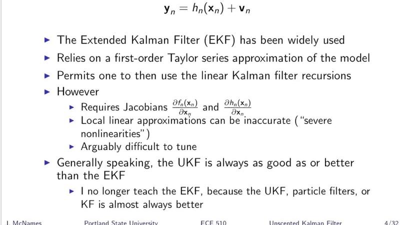 Unscented Kalman Filter - Part 1 (SST T20)