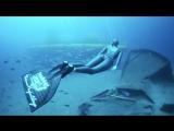 Марианна Крупницкая, фридайвинг с подводной лодкой