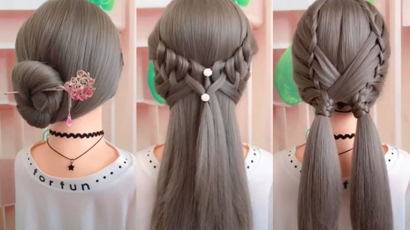 26 Braided Flower | Braided Hairstyles | Hairstyles for Girls | Best Hairstyles for Girls | Part 3