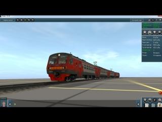 Запуск и Управление Электропоезда ЭД4МК-0110 в окраске РЖД