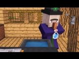 [Alien Being] Villager & Witch Life 3 - Alien Being Minecraft Animation