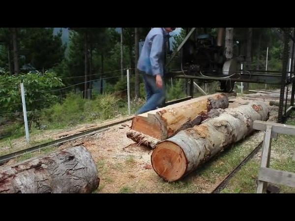 Primitive Technology Vs Mega Machines What Makes Life Easier Sawmill Unusual Wood Work Lathe CVN