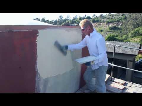 Repair stucco acrylic plastering coatings
