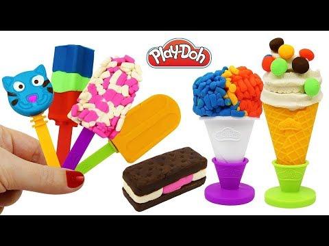 Мороженое из пластилина плей дох/ice cream from plasticine play DOH