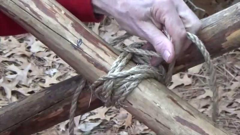 How to Tie the Mark II (Filipino) Diagonal Lashing
