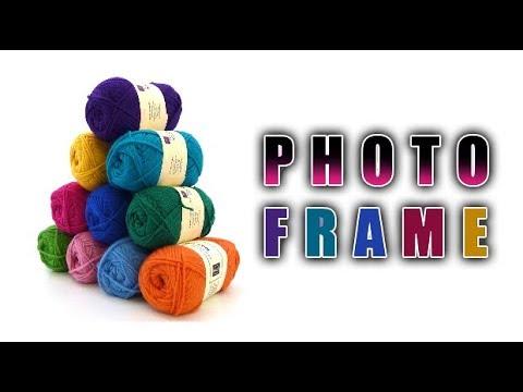 Photo Frame Idea   Make easy Photo Frame using Woolen,Cardboard   Best out of waste