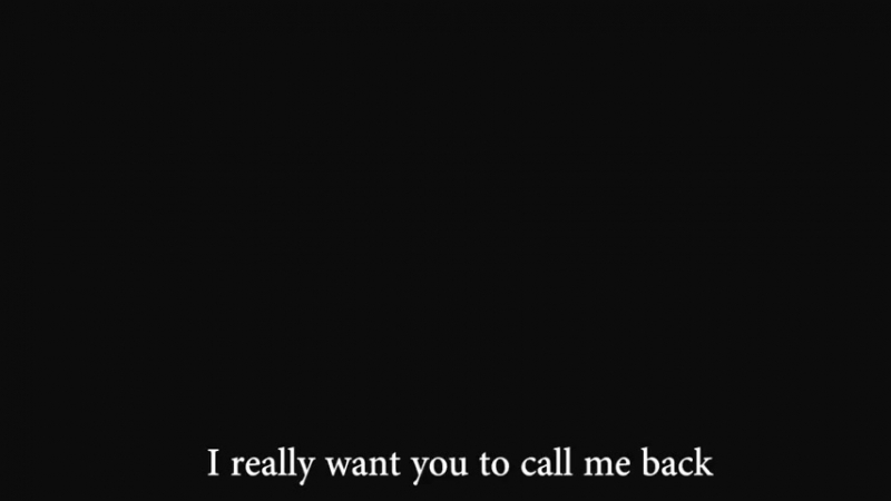 I love you and i miss you, so can you call me back