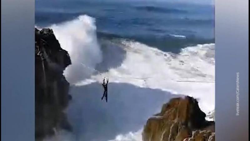 Завораживающие кадры из Португалии! Это местечко Назарэ, знаменитое самыми большими волнами на планете!