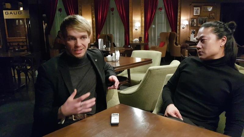 Интервью с актерами фильма Легенда о Коловрате Ильей Малаковым и Александром Цоем