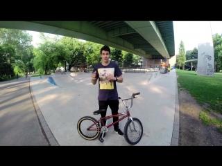 [Дима Гордей] How to Bunny hop 360 bmx (Как сделать 360 с Банни-хопа)   Школа BMX Online #6 [Дима Гордей]