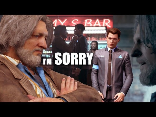 Detroit Become Human - Connor Apologizes To Hank For Spilling His Drink - Waiting For Hank