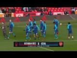 Разминка Арсенала перед матче с Ноттингемом