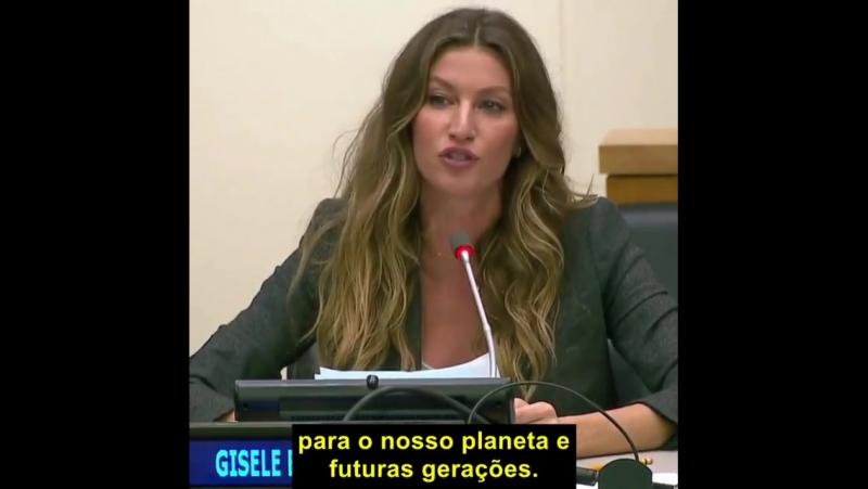 Выступление Жизель о защите слонов и окружающей среды в ООН, Нью-Йорк, 19 сентября 2017