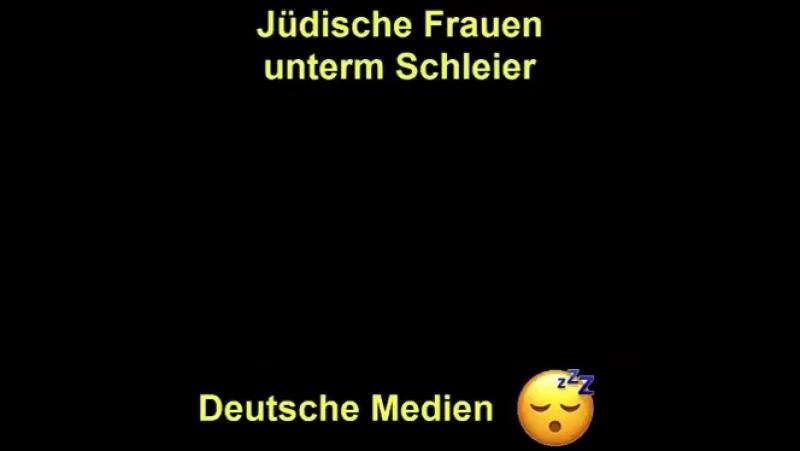 Jüdische Frauen unterm Schleier(Burka)🤔 Da trauen sich aber die Deutschen Medien nicht einmal Pieps zu machen......