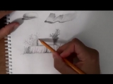 как рисовать камни карандашом