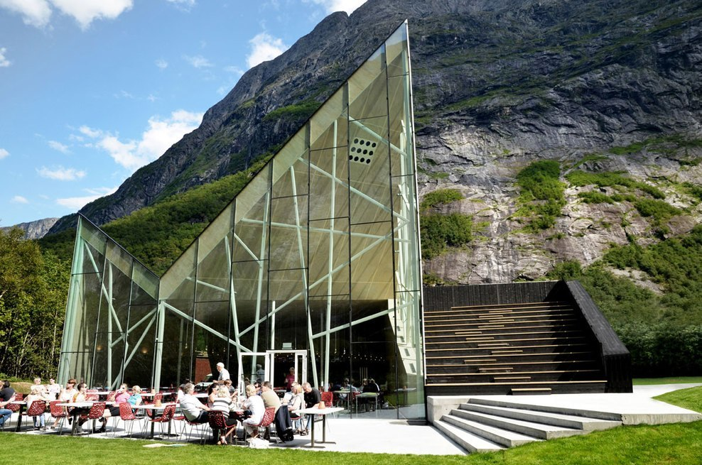 Troll Wall Restaurant by Reiulf Ramstad Architects