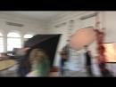 Съёмка шибари в зале Росси