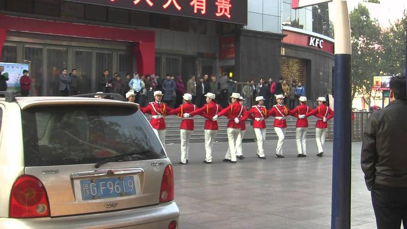 Beautiful Chinese Women Marching in Xinxiang 新乡