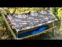 Походная кровать укрытие из пончо и плащ палатки