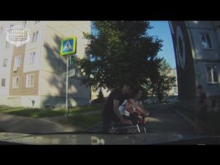ДТП двух велосипедистов на пешеходном переходе в Ачинске