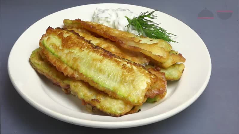 Вкусные кабачки Кабачки жареные в кляре Fried zucchini