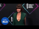 Kat Graham gorgeous in green at 2018 E! People's Choice Awards