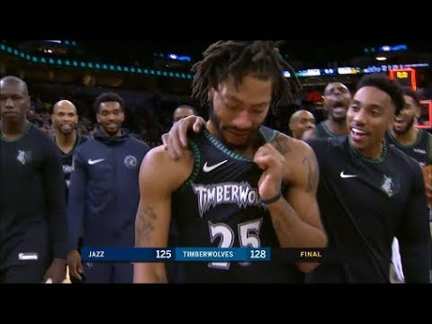 Derrick Rose Can't help but Cry After dropping 50 Points vs Jazz Emotional! (10/31/18)
