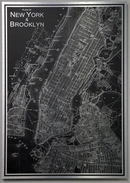 Классная карта Бруклина.