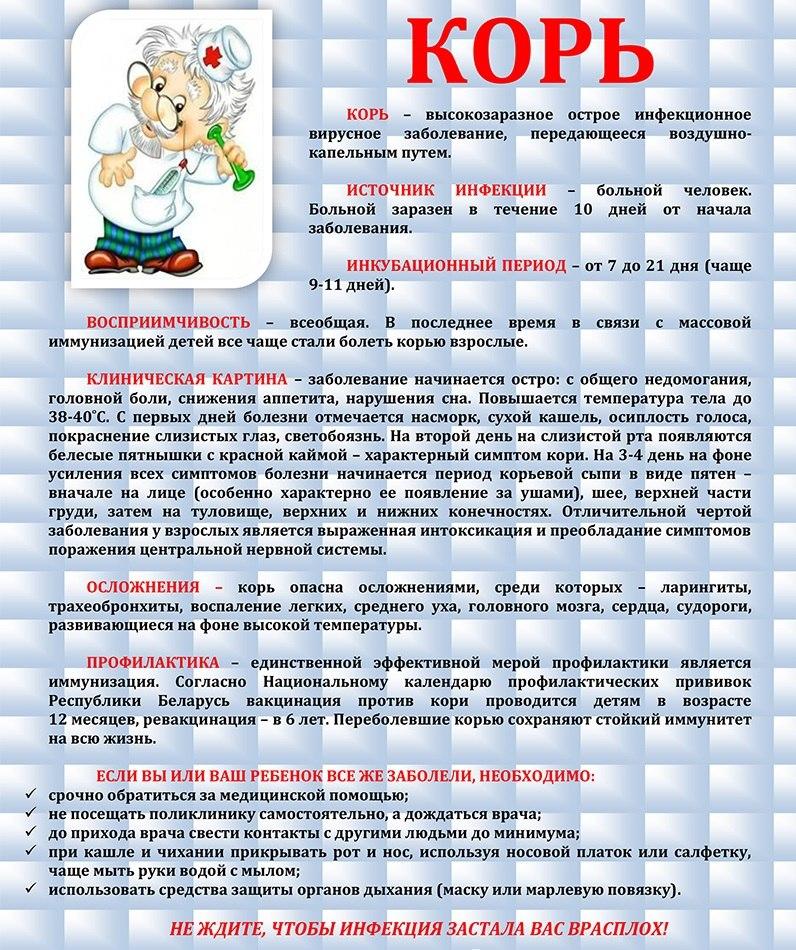 картинки корь информационный лист