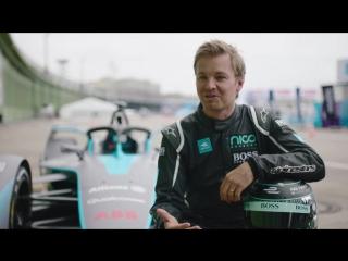 Nico Rosberg Drives New Gen2 Formula E Car On Berlin Streets