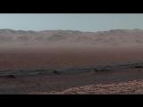 Кратер на Марсе Curiosity at Martian Scenic Overlook