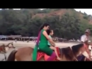 Indian Woman Interested in Horse Riding.mp4