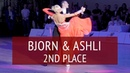 PD WDSF European Championship 2nd Place Bjorn Bitsch Ashli Williamson