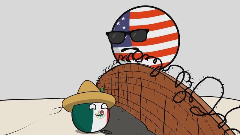 Америка одержима стенами CountryBalls перевод