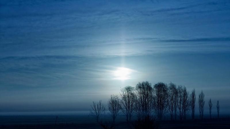Картинка природа. Пампасы, argentina, pampas, fog, туман, луна, moon, Аргентина.