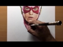 Speed Drawing  The Flash - Justice League- DC  - Timelapse ¦ Artology