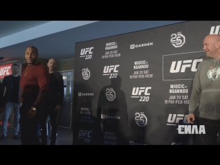UFC 220 Media Day Faceoffs