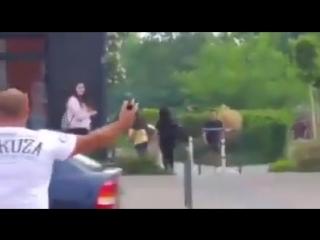 Rathenow / Brandenburg - 10.05.2018 - Märkischer Platz - Auseinandersetzungen zwischen Deutschen und Asylanten
